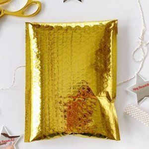 10 6.5x10 gold metallic poly bubble mailers